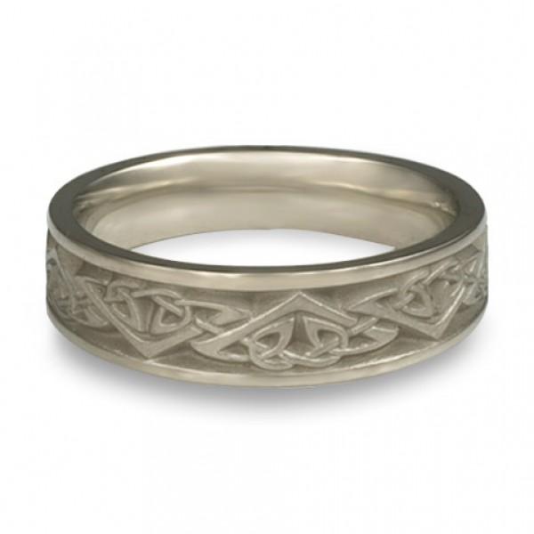 Narrow Monarch Wedding Ring in Platinum