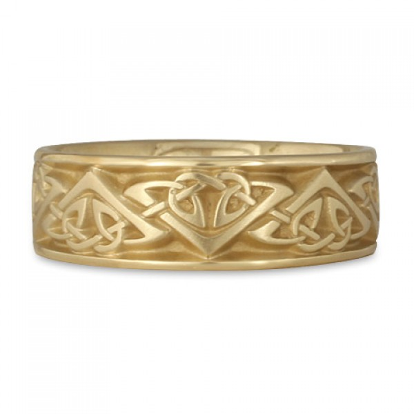 Wide Monarch Wedding Ring in 14K Yellow Gold