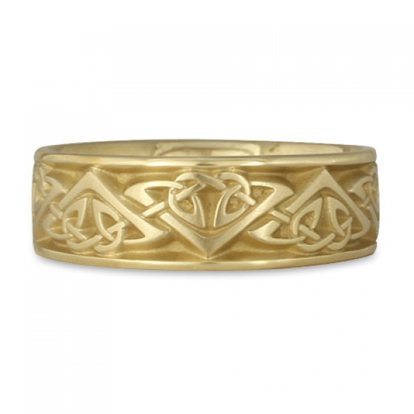 Wide Monarch Wedding Ring in 18K Yellow Gold