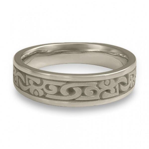 Narrow Luna Wedding Ring in 14K White Gold