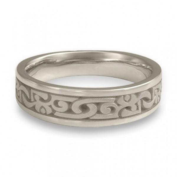 Narrow Luna Wedding Ring in Platinum