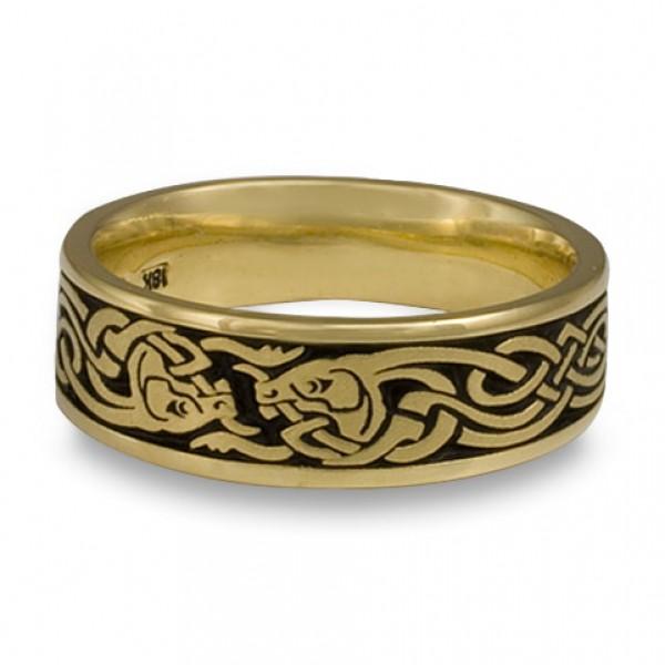 Celtic Hunt Wedding Ring in 18K Yellow Gold