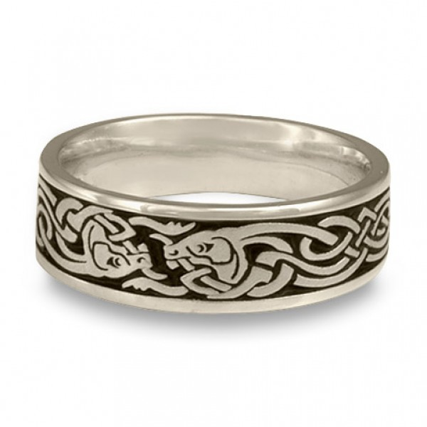 Celtic Hunt Wedding Ring in Platinum