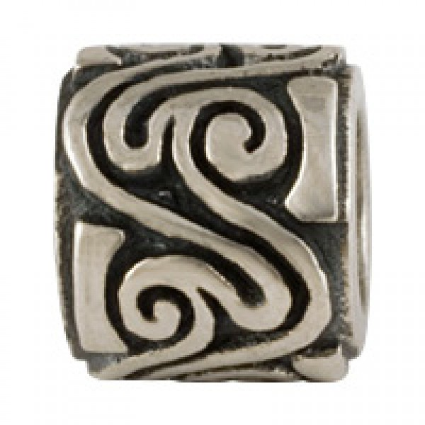 Twisted Bead - Antiqued Silver