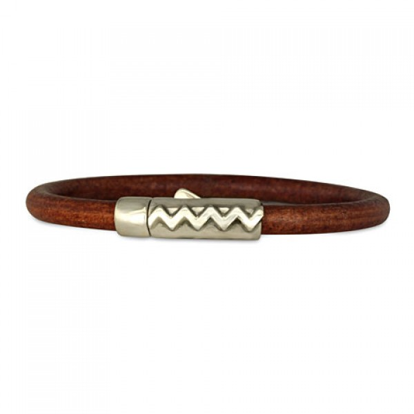 Zig Zag 5mm Leather Bracelet