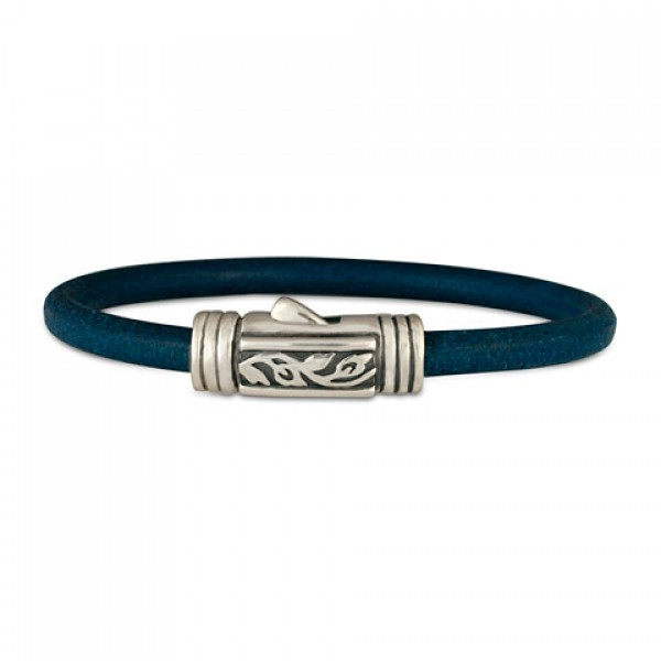 Flores Leather Bracelet (Clasp)