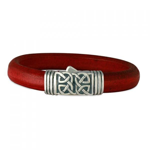 Scroll Leather (Clasp) Bracelet