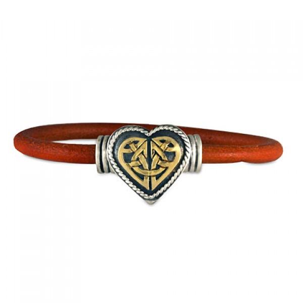 Heart Leather Bracelet