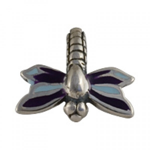 Dragonfly Bead -  Blue and Purple