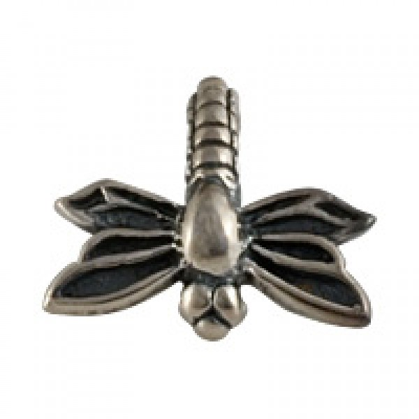Dragonfly Bead - Silver