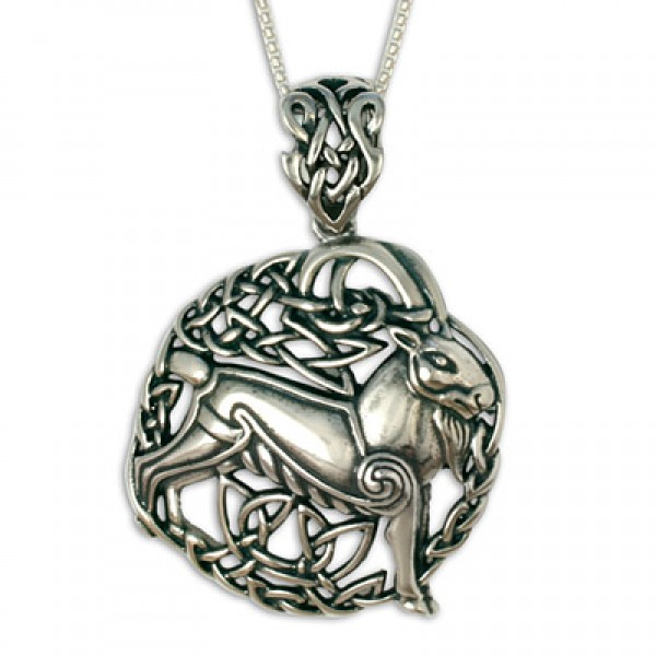 Aries the Ram Silver Pendant (Large)