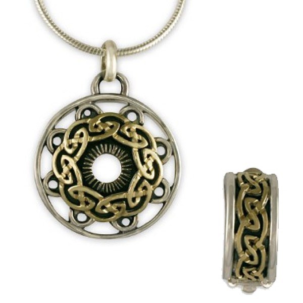 Celtic Mandala Pendant & Earring Set