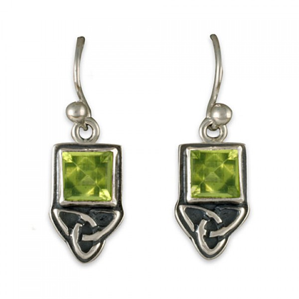 Aria Square Earrings Silver