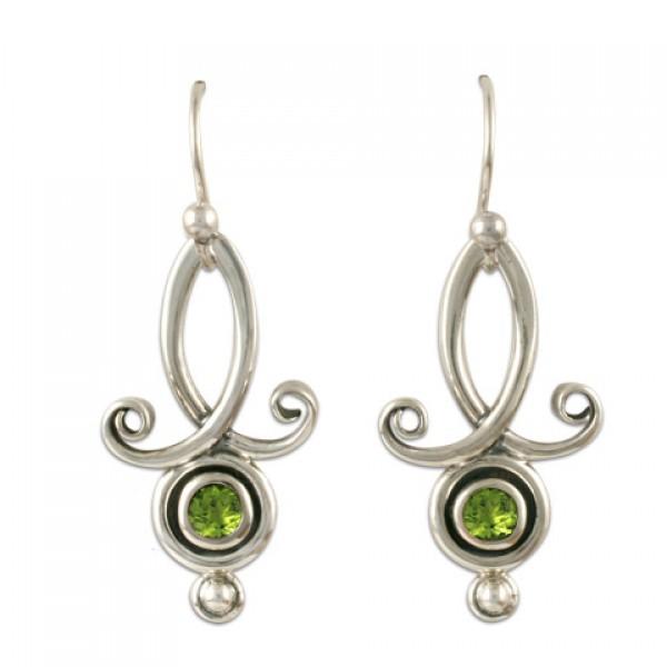 Viola Earrings with Gems