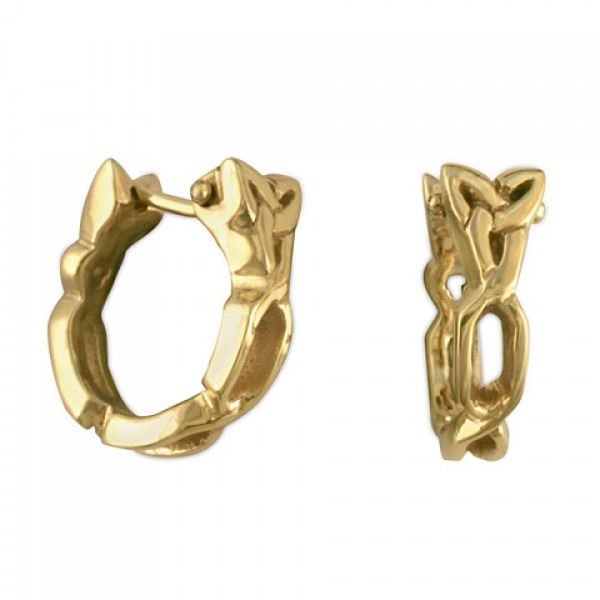 Trinity Cuff Gold Earrings