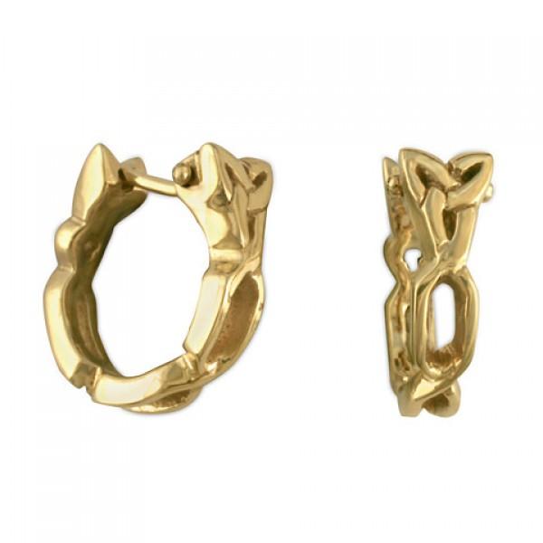 Trinity Cuff Gold Earrings