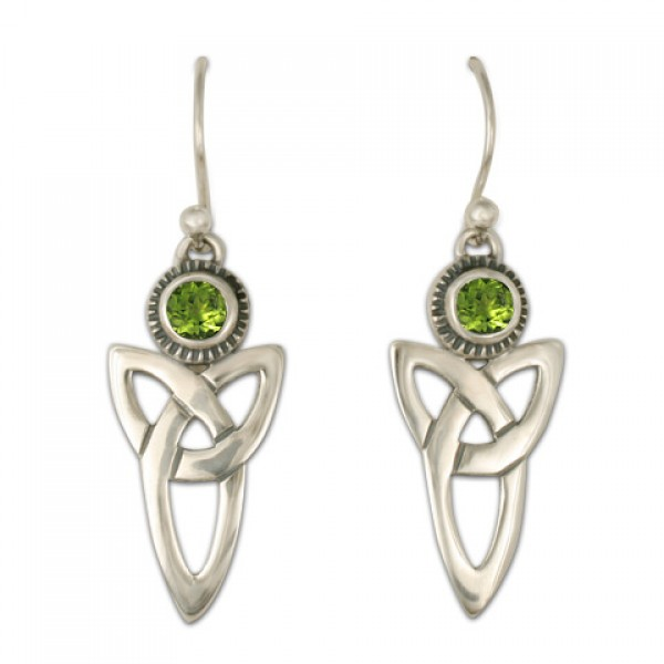 Trinity Earrings with Gems