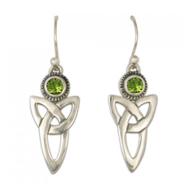 Trinity Earrings with Gems