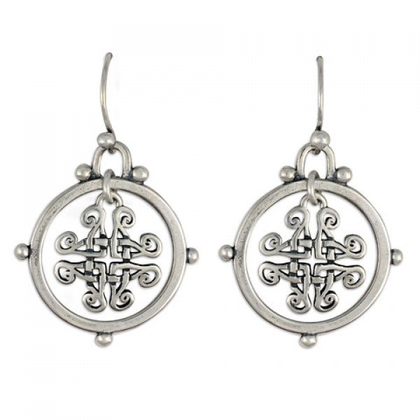 Taliesan Silver Earrings