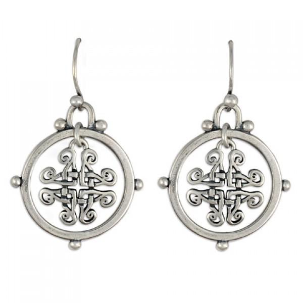 Taliesan Silver Earrings