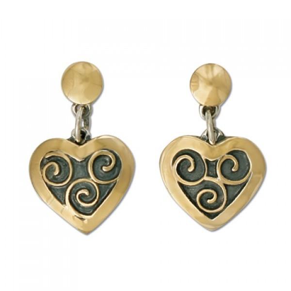 Swirl Heart Earrings