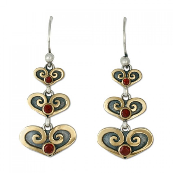 Cascading Heart Earrings