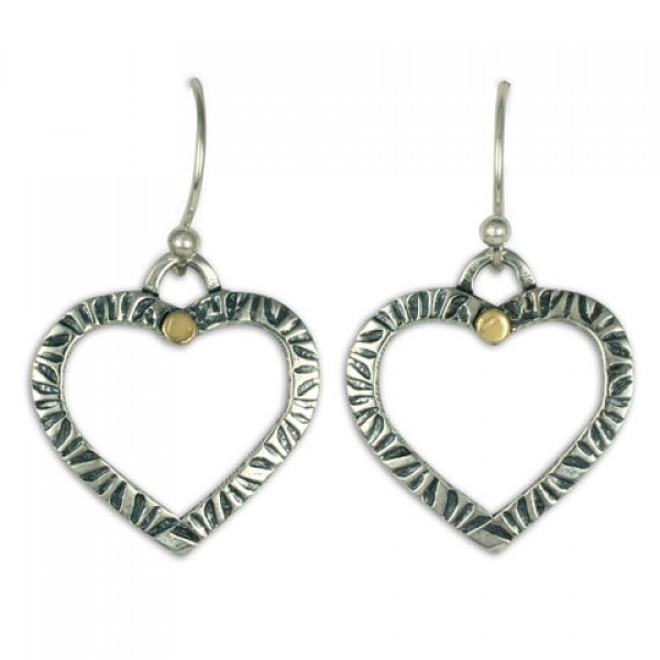 Taliesan Heart Dot Earrings