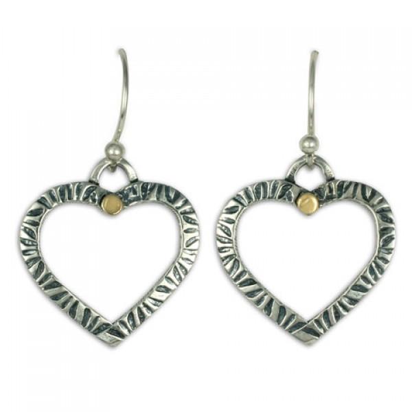 Taliesan Heart Dot Earrings