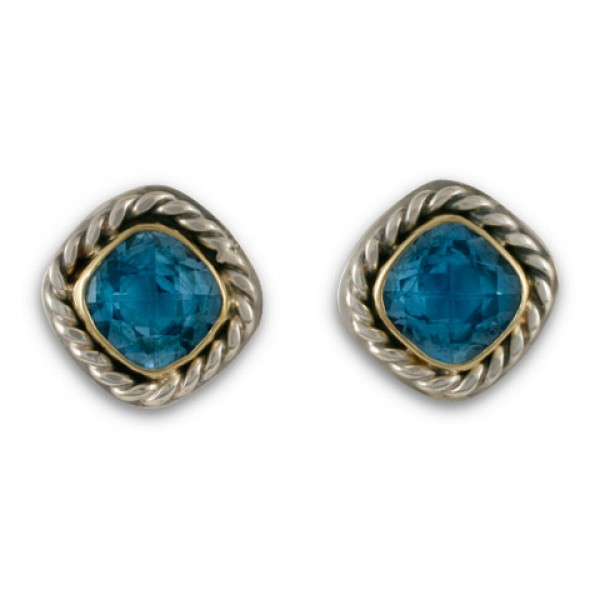 Athena Earrings-Blue Topaz
