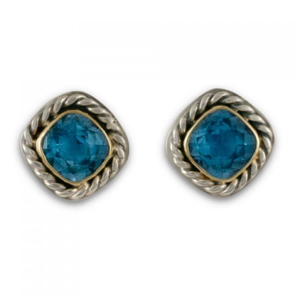 Athena Earrings-Blue Topaz
