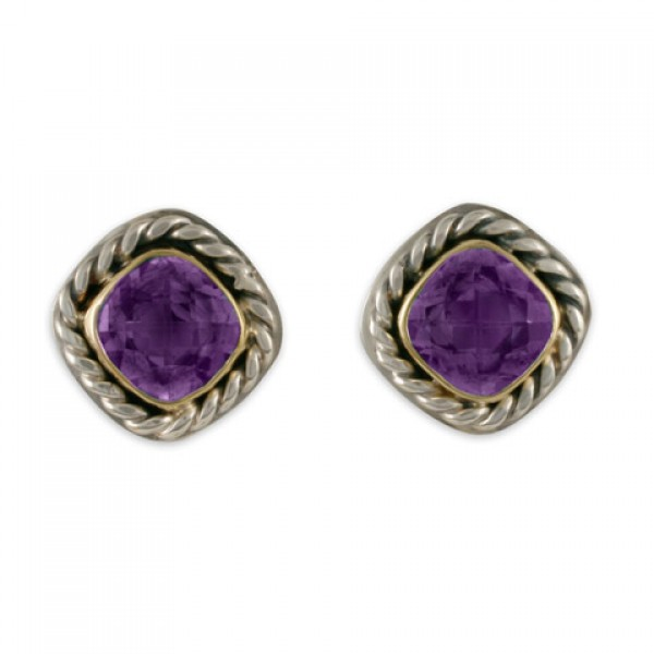 Athena Earrings-Amethyst
