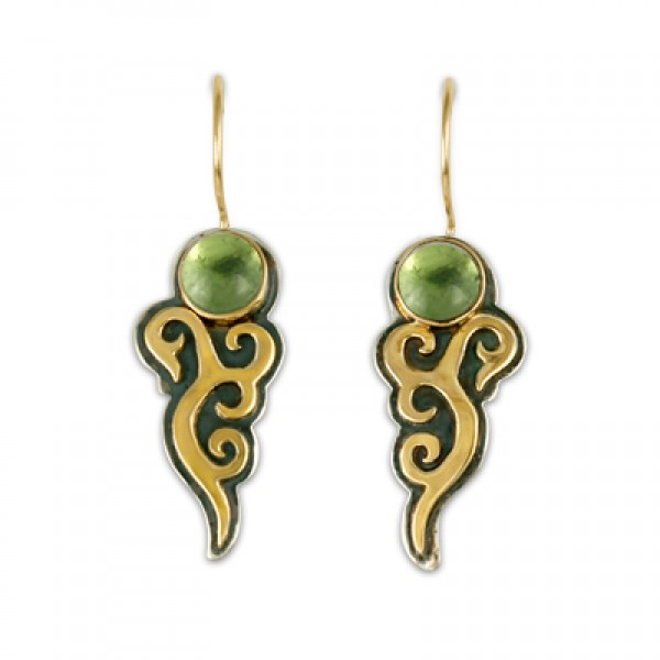Wind Horse Earrings with Gem