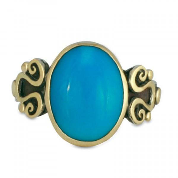 Mardi Gras Turquoise  Ring