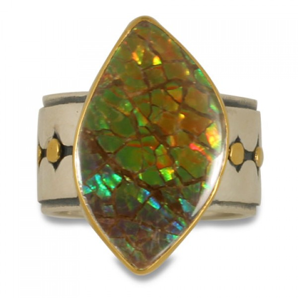 One-of-a-Kind Ravena Ammolite Ring