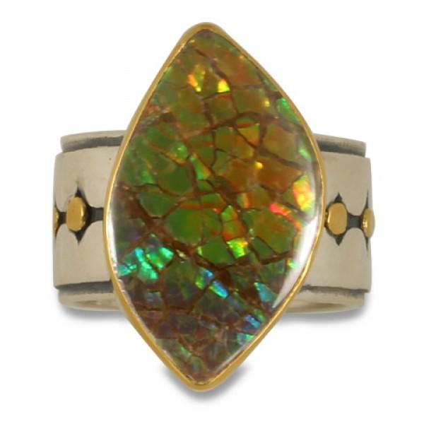 One-of-a-Kind Ravena Ammolite Ring