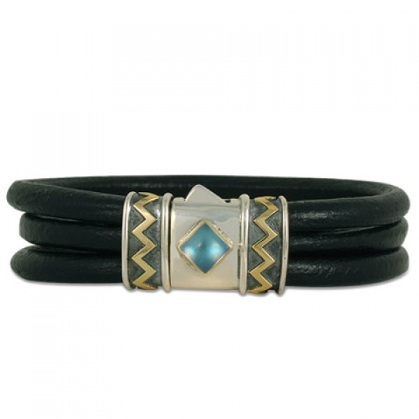 One-of-a-Kind Zig Zag Leather Bracelet