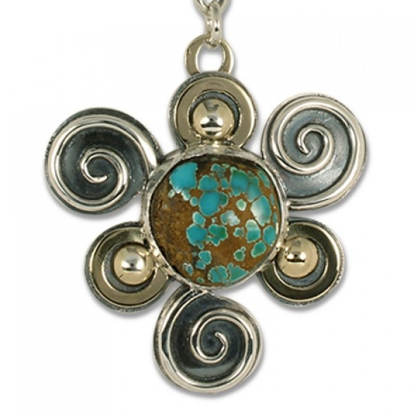 One-of-a-Kind Swirl Pendant with Royston Natural Turquoise