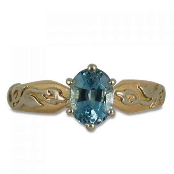 One-of-a-Kind Flores Aquamarine Ring