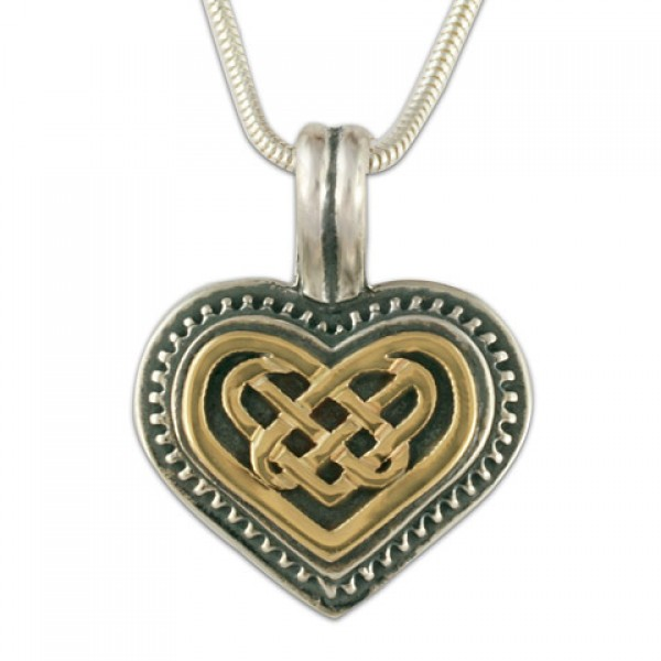 Heart Pendant (14K Gold Over Silver)