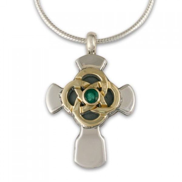 Sita Cross Pendant with Gem