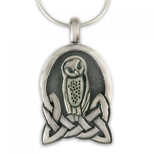 Celtic Owl Pendant