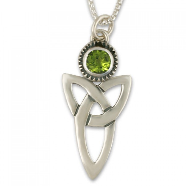 Trinity Pendant with Gem