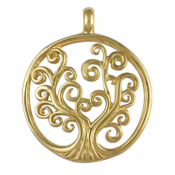 Tree of Life Small Gold Pendant 18KY