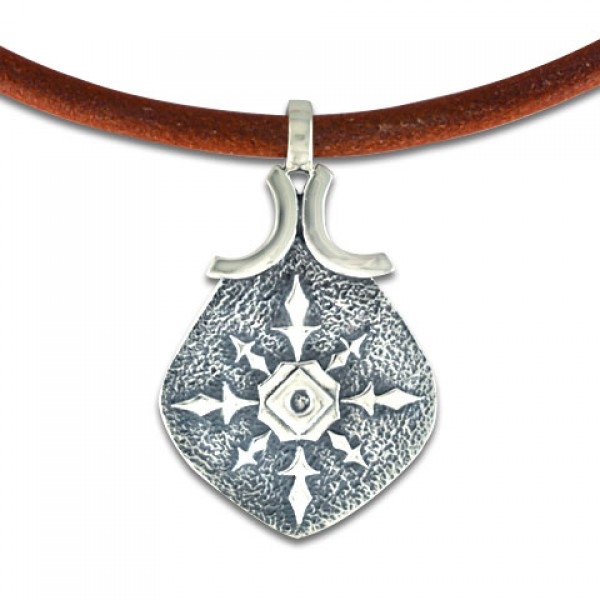 North Star Pendant on Leather