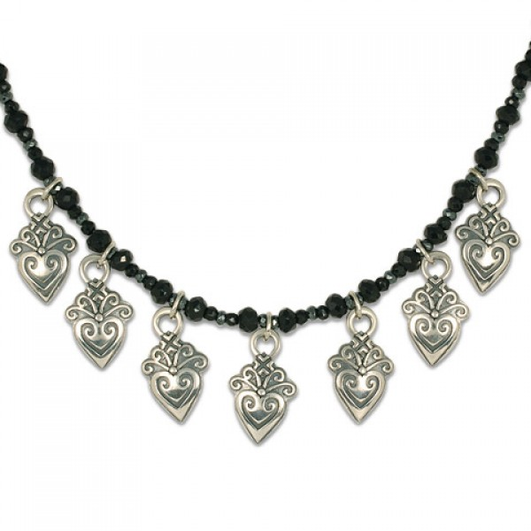 Corazonita Necklace with Gem Beads