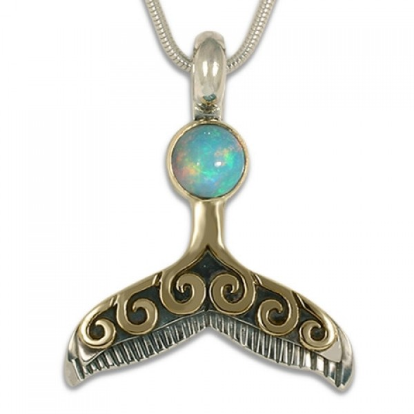 Celtic Whale Tail With Gem