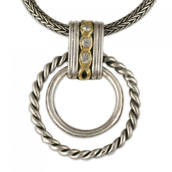 Links Pendant with White Sapphires