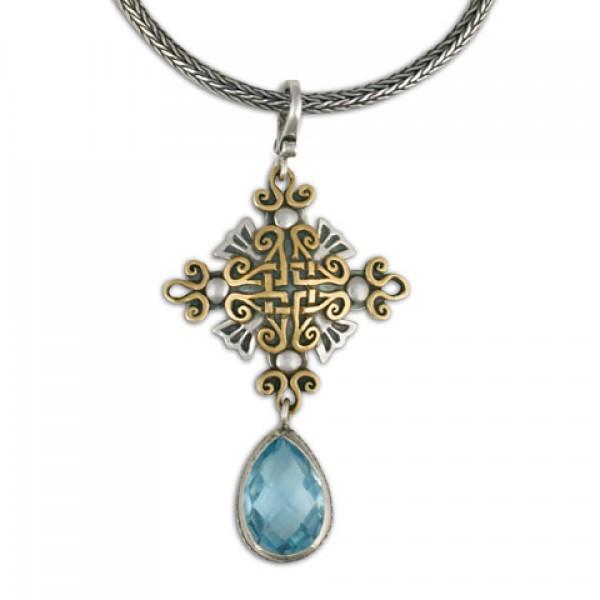 Shonifico Pendant with Swiss Blue Briolite