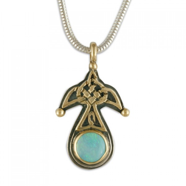 Swallow with Opal Small Pendant