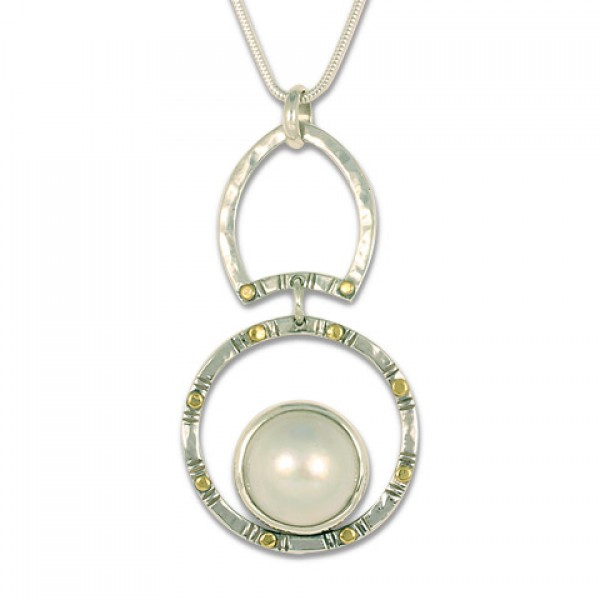 Mabe Circle Dangle Pendant